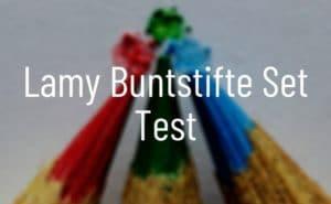 Lamy Buntstifte Set Test