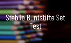 Stabilo Buntstifte Test