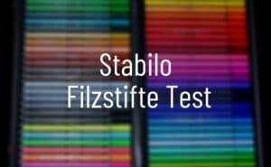 Stabilo Filzstifte Test