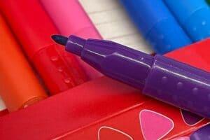 Auswaschbare Stifte Stiftbreite