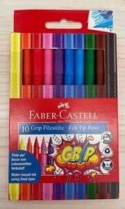 Auswaschbare Stiftkappen